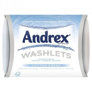 Andrex Washlets Wipes Pack of 42