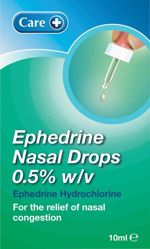 Care Ephedrine Nasal Drops 0.5% 10ml