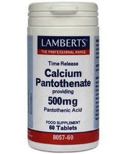 Lamberts Calcium Pantothenate 500mg Tablets Pack of 60