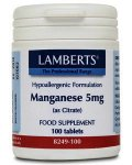 Lamberts Manganese Tablets 5mg Pack of 100