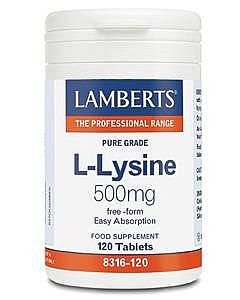 Lamberts L-Lysine Tablets 500mg Pack of 120