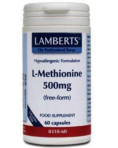 Lamberts L-Methionine Capsules 500mg Pack of 60
