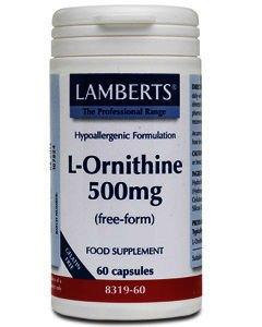 Lamberts L-Ornithine Capsules 500mg Pack of 60