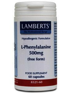 Lamberts L-Phenylalanine Capsules 500mg Pack of 60