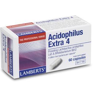 Lamberts Acidophilus Extra 4 Capsules Pack of 60