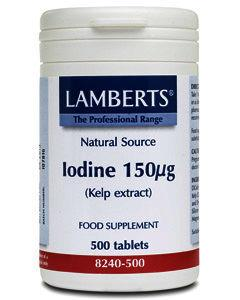 Lamberts Iodine (Kelp extract) Tablets Pack of 500