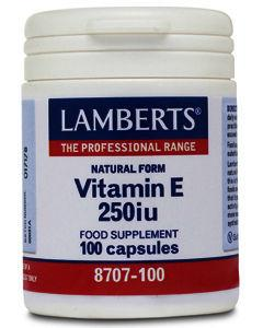 Lamberts Vitamin E Capsules 250iu Pack of 100