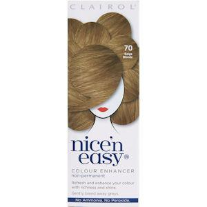 Clairol Nice n Easy Colour Enhancer Non Permanent Beige Blonde 70