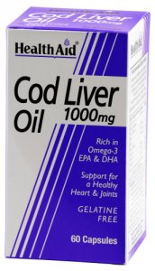 HealthAid Cod Liver Oil 1000mg Capsules Pack of 60