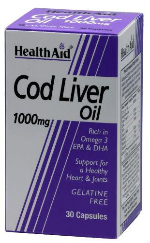 HealthAid Cod Liver Oil 1000mg Capsules Pack of 30