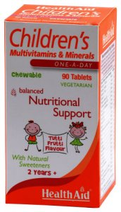 HealthAid Childrens Multivitamin and Minerals Chew Tabs Pack of 90