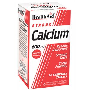 HealthAid Calcium 600mg Chewable Tablets Pack of 60