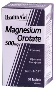HealthAid Magnesium Orotate 500mg Tablets Pack of 30