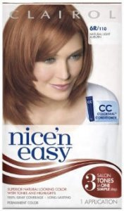 Clairol Nice n Easy Natural Light Auburn 6R (formerly 110)