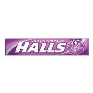 Halls Throat Lozenges Blackcurrant Flavour