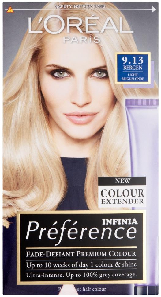 L'Oreal Preference Bergen Light Beige Blonde 9.13
