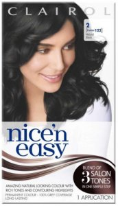 Clairol Nice n Easy Natural Black 2 (formerly 122)