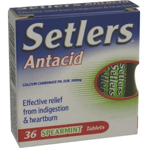 Setlers Antacid Spearmint Tablets Pack of 36
