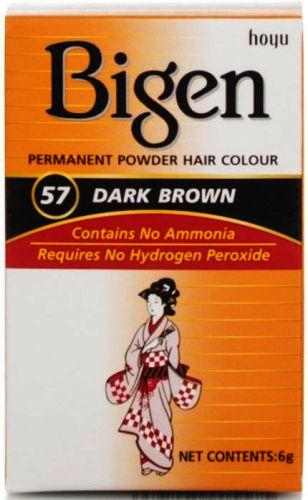 Bigen Permanent Powder Hair Colour Dark Brown 57