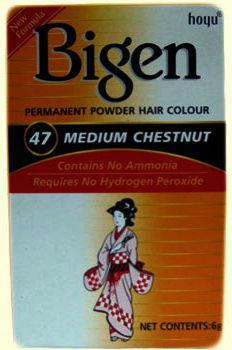 Bigen Permanent Powder Hair Colour Medium Chestnut 47