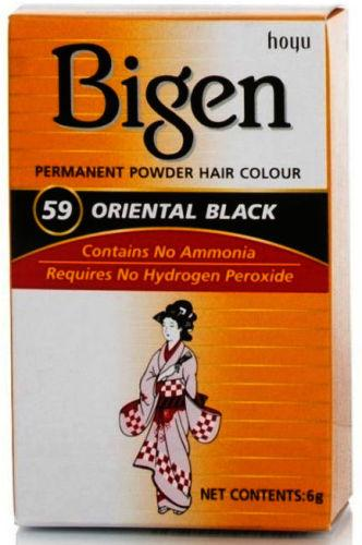 Bigen Permanent Powder Hair Colour Oriental Black 59