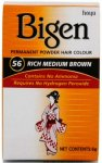 Bigen Permanent Powder Hair Colour Rich Medium Brown 56