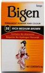 Bigen Permanent Powder Hair Colour Rich Medium Brown 56