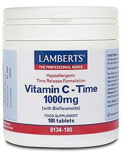 Lamberts Vitamin C Time with Bioflavonoids Tablets 1000mg Pack of 180