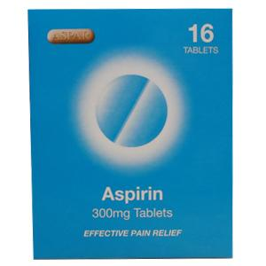 Aspirin 300mg Tablets Pack of 16