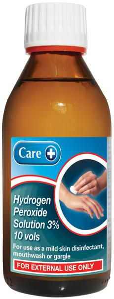 Care Hydrogen Peroxide Solution 3% (10 Vol) 200ml