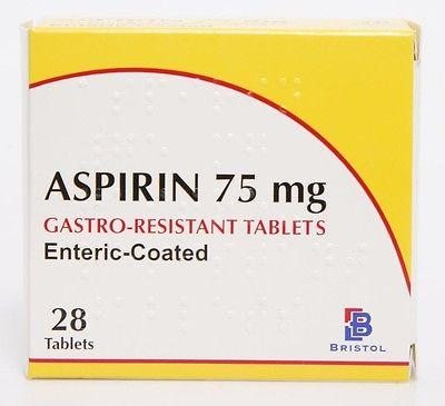 Aspirin 75mg Gastro-Resistant Tablets Pack of 28