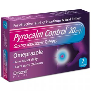 Pyrocalm Control Omeprazole 20mg Gastro-Resistant Tablets Pack of 7