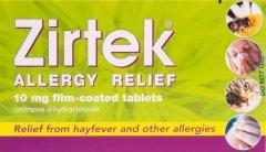 Zirtek Allergy Relief Tablets Pack of 7