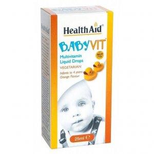 HealthAid BabyVit Multivitamin Drops Orange Flavour 25ml