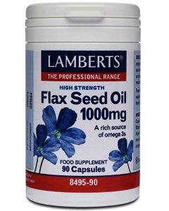 Lamberts Flax Seed Oil Capsules 1000mg Pack of 90