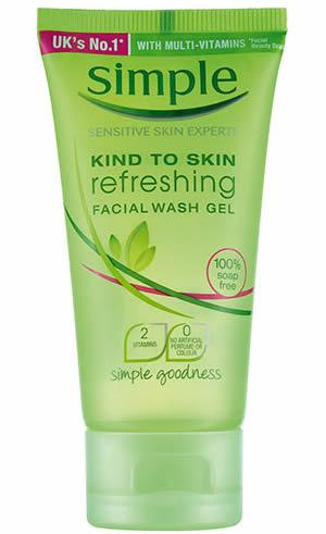 Simple Kind To Skin Refreshing Facial Wash Gel 150ml