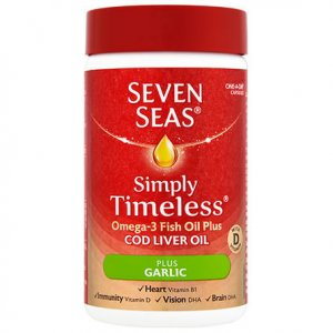 Seven Seas Cod Liver Oil & Garlic Capsules Pack of 30