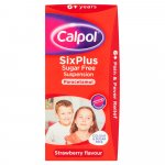 Calpol Six Plus Sugar & Colour-Free Suspension Strawberry 100ml