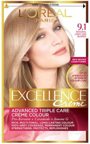 L'Oreal Excellence Creme Natural Light Ash Blonde 9.1