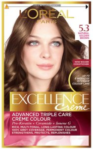 L'Oreal Excellence Creme Natural Golden Brown 5.3