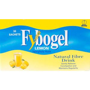 Fybogel Lemon Flavoured Laxative Sachets Pack of 30 x 2