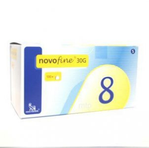 Novofine Needles 8mm/30g Pack of 100