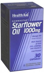 HealthAid Starflower Oil 1000mg Capsules Pack of 30