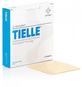 Tielle Polyurethane Foam Film Dressing 11cm x 11cm (Single Dressing)