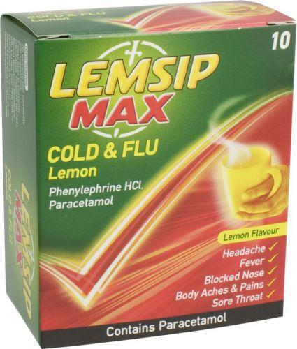 Lemsip Max Cold & Flu Sachets Lemon Pack of 10