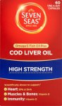 Seven Seas Pure Cod Liver Oil High Strength Capsules Pack of 60