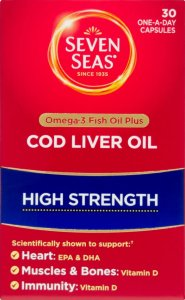 Seven Seas Cod Liver Oil High Strength Capsules Pack of 30