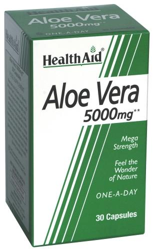 HealthAid Aloe Vera 5000mg Capsules Pack of 30
