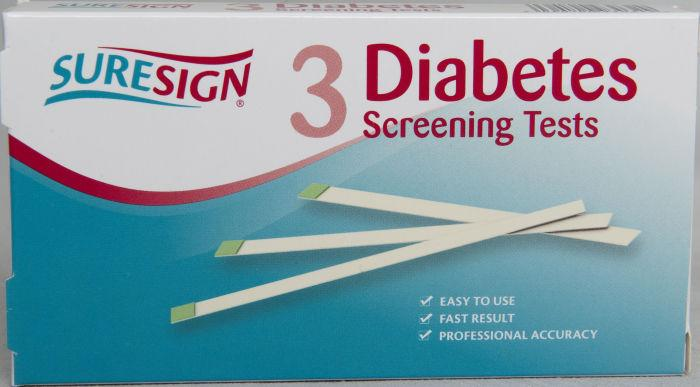 Suresign Diabetes Screening Test Pack of 3