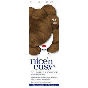 Clairol Nice n Easy Colour Enhancer Non Permanent Light Brown 755
